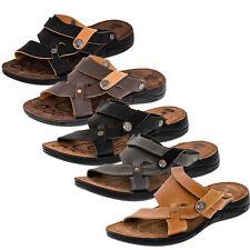 Herren Malibu Sandalen Pantoffel Hausschuhe umklappbar