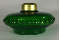 New Dark Green Glass Oil Lamp Font For Cast Iron Wall Bracket No. 2 Collar #105