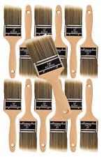 "12PK 2.5"" Flat House Wall,Trim Paint Brush Set Home Exterior or Interior Brush"