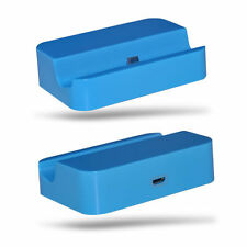 Blue Desktop Charging Station Dock Stand Micro USB For Samsung Galaxy S3