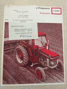 Massey ferguson  tractors 135 165 175 etc  Very Nice Old Original brochure