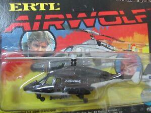 1984 1:64 ERTL Airwolf Helicopter Die-Cast Metal: Has shelf wear