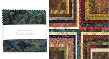 "PAINT BOX Batiks 5"" Charm Pack / Quilt Squares Moda Fabric"