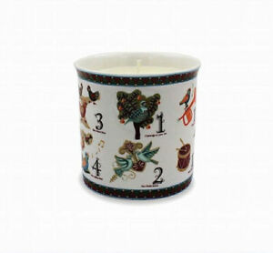 12 Days Of Christmas Scented Candle In Ceramic Pot