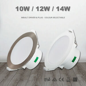 Led Downlight Kit CCT 10W/12W/14W 70/90/120mm Cutout Warm/Natural/Cool White