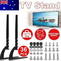 "Universal Table Top TV Stand Leg Mount LED LCD Flat TV Screen 32-70"" For Sony LG"