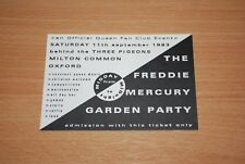 FREDDIE MERCURY VERY RARE UK QUEEN FAN CLUB INVITATION TO TRIBUTE GARDEN PARTY