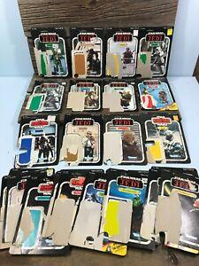 25 Total Vintage Star Wars ESB & ROTJ Original Figure Cardbacks Lot 1980s