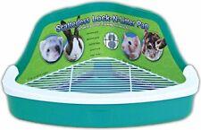 Small Pet Litter Box Plastic Bedding Corner Lock Critter Rabbit Ferret Pan Pets