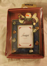 Images Snowman Angel Photo Frame 3D New In Damaged Intact Box Christmas Decor