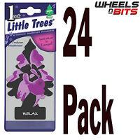 24x Relax Scent Magic Little Tree Trees Car Van Bus Home Air Freshener Freshner
