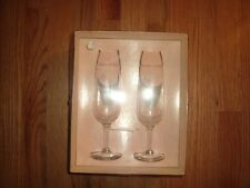 Vintage Wedding Toast Champagne Wine Glasses NIB