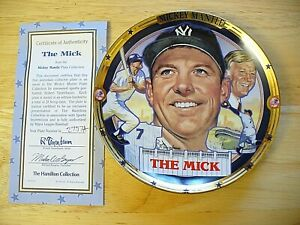 "The Hamilton Collection -""The Best of Baseball"" Mickey Mantle Plate - 6 1/2"" NEW"