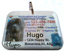 Newfoundland Canada Driver License Canadian dog cat tag custom by Id4Pet