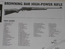 BROWNING BAR SEMI-AUTO RIFLE EXPLODED VIEW