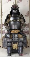 Japanese wearable Rüstung Samurai Armor Peach Ghost Toyotomi family Silver O26