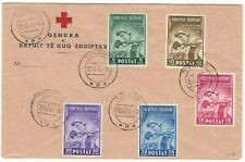 Albania 1943 Anit TB five values on printed Red Cross cover