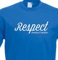 Aretha Franklin RESPECT Soul Music R&B 60s 1394 T Shirt.