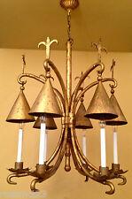 Vintage Lighting very large 1960s gold chandelier. Astounding