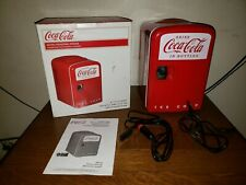 Coca Cola Retro Personal Fridge: Hold 6 Cans Good for Car, Boats, or Home