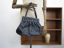 95767fbd10bb8 Rieke Damen Handtasche Leder schwarz Tasche 60s TrueVINTAGE black leather  hand b
