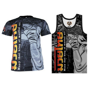Bundle T-shirt tank top polyester born to be muay thai sublimation fist punch