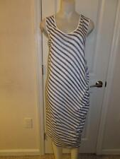 WOMENS PURE DKNY BLUE/WHITE STRIPED SLEEVELESS DRESS - SIZE LARGE