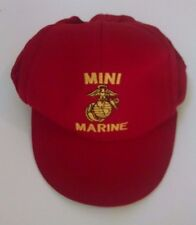 Mini Marine Childs Snapback Trucker Hat Eagle Crest Red One Size Made in USA