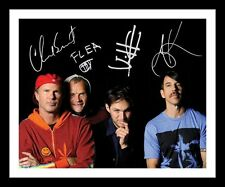 RED HOT CHILLI PEPPERS AUTOGRAPHED SIGNED & FRAMED PP POSTER PHOTO