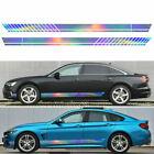 2pcs Car Stripe Graphics Decal Racing Long Side Body Door Vinyl Colorful Sticker