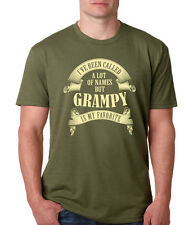 CALLED MANY NAMES GRAMPY IS MY FAVORITE T-Shirt grandpa gpa Father's Day present