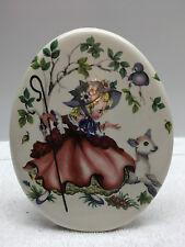 Vintage Childrens Nursery Rhymes Little Bo Peep Sheep Oval  Picture Ceramic