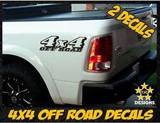 4x4 OFFROAD Truck Bed Decal Set GLOSS BLACK for Dodge RAM Dakota