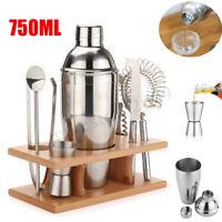 750ml Stainless Steel Cocktail Shaker Mixer Drink Bartender Tools Bar Set Kit
