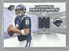 2006 SPx Rookie Winning Materials #WMRWH Charlie Whitehurst (ref42792)