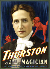 TM03 VINTAGE THURSTON MAGICIAN MAGIC A4 POSTER PRINT