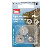 Prym Plain Jeans Buttons Silver 622240 per pack of 8