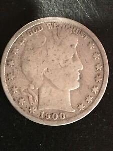1900 Barber Half Dollar - Good Circulated Condition