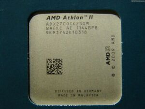 AMD Athlon II X2 270, AM2+AM3, 3,4 GHZ, Dual Core, 2 MB L2, ADX270OCK23GM