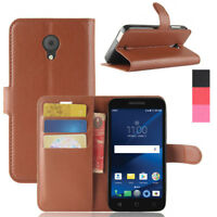 Leather Wallet Case Card Stand Cover For Alcatel Verso/IdealXcite /CameoX/U50