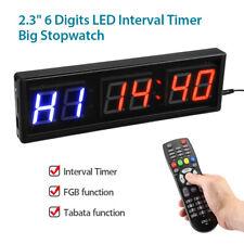 "2.3"" LED Programmable Interval Timer Training FGB Tabata function Fitness Yoga"