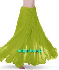 360 Full Circle Skirts Chiffon Long Swing Belly Dance Costume Tribal Maxi Jupe