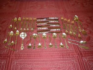 """Gorham """"ENGLISH GADROON"""" Service for 8 + 6 Serving Pieces"""