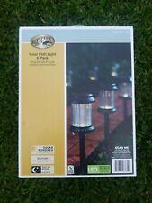 Hampton Bay Solar Black LED Pathway Light 6-Pack