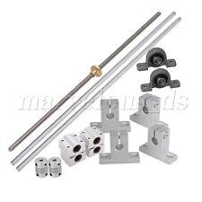 8mm Lead Screw Linear Rail Bearing Block Slide Bushing Horizontal Set