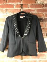 Juicy Couture Navy Blue Studded Blazer Jacket Size Small