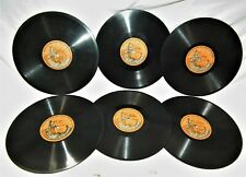 6 RARE 1909 VINTAGE SILVERTONE PHONOGRAPH GRAMOPHONE VICTROLA 78 RPM RECORDS