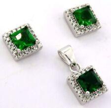 Conjuntos de joyas con diamantes o gemas esmeralda