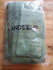 Lands End Nile Green Supima Towel Set Nwt