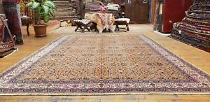 Beautiful Antique 1920-1930s Wool Pile Natural Dye Legendary Hereke Rug 7x10ft